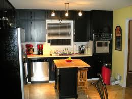 Black kitchen cabinet with modern touch