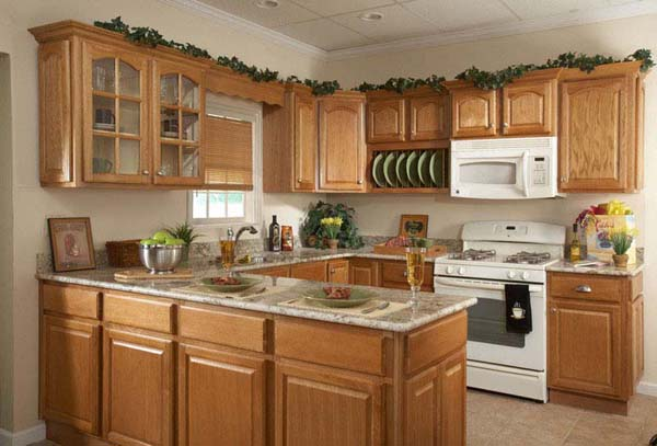 Kitchen paint color with oak cabinets photos