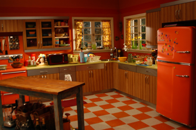 Tiles That Match With An Orange Kitchen