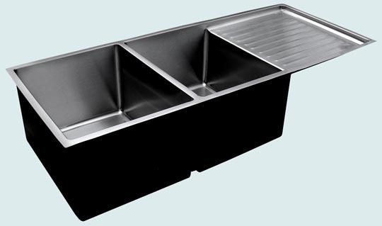 stainless kitchen sink drainboard